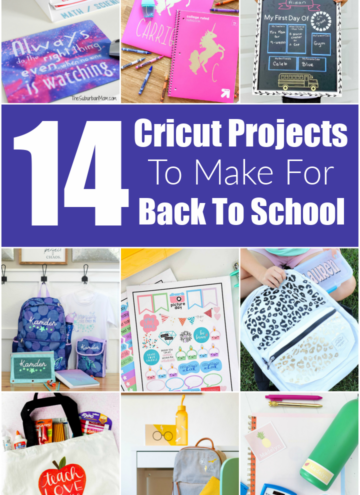 Cricut Projects For Back To School