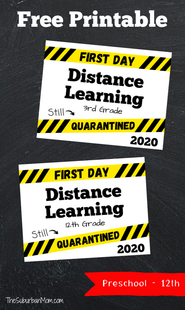 First Day Distance Learning Signs 2020