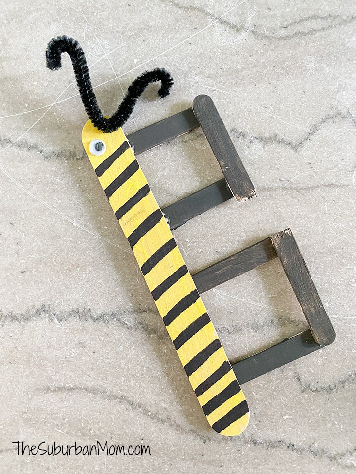 B is for Bee Popsicle Stick Craft