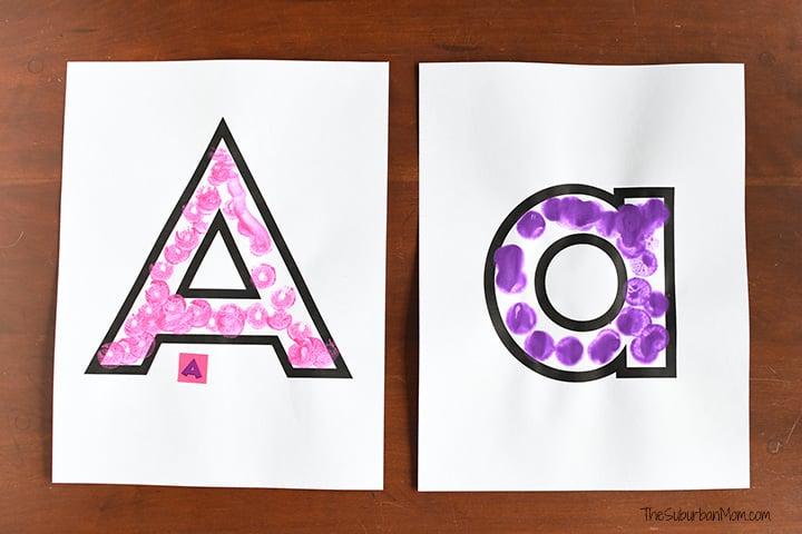 Dot Marker Letter A