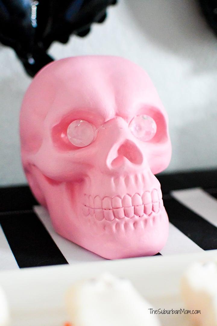 DIY Pink Halloween Skull