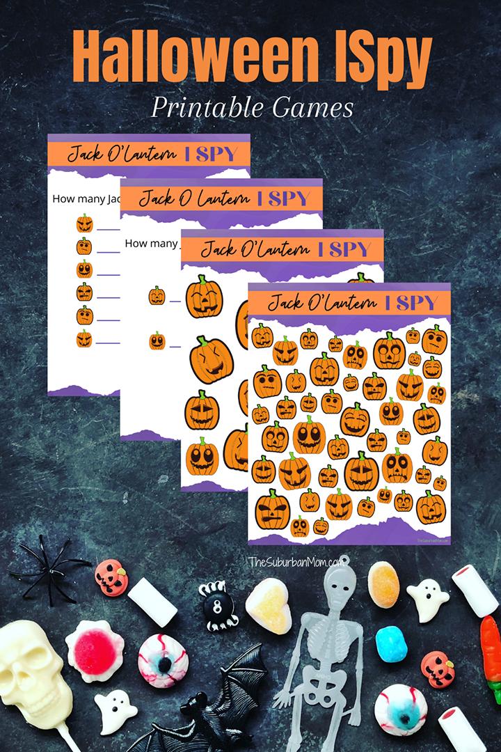 Halloween Jack O'Lantern ISpy Printables