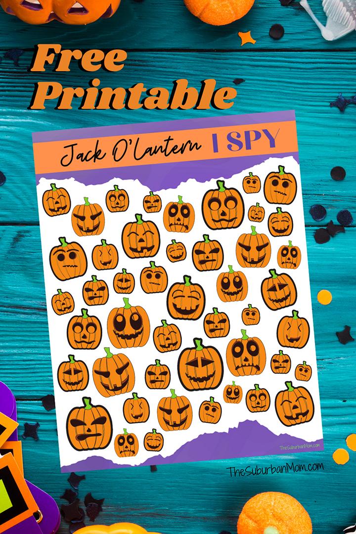 Halloween Jack O'Lantern ISpy
