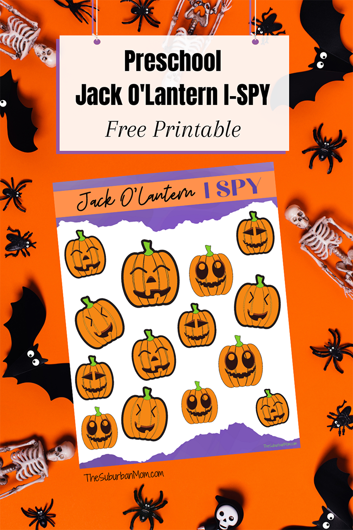 Preschool Halloween Pumpkin ISpy