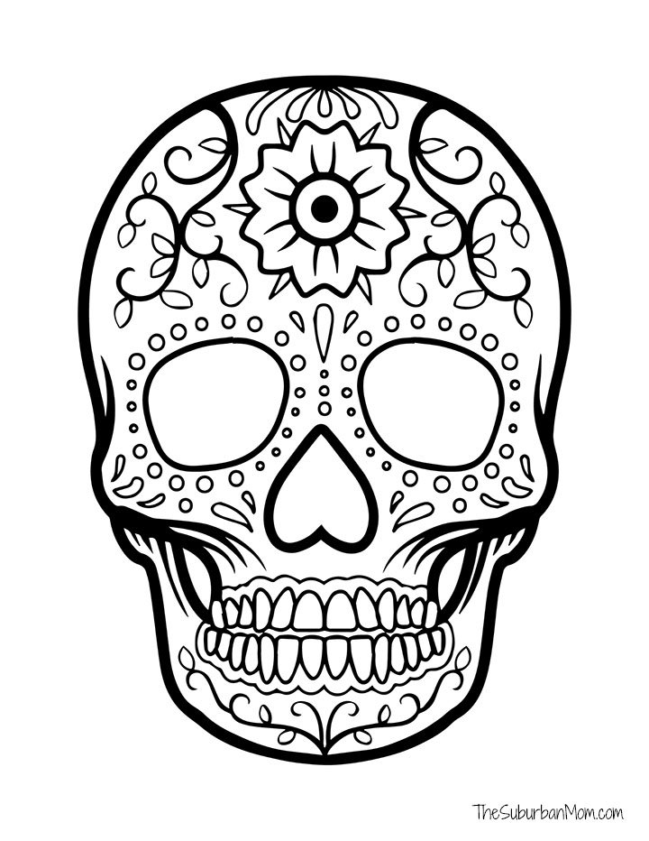 Día De Los Muertos Coloring Pages Free Printable - Day Of The Dead