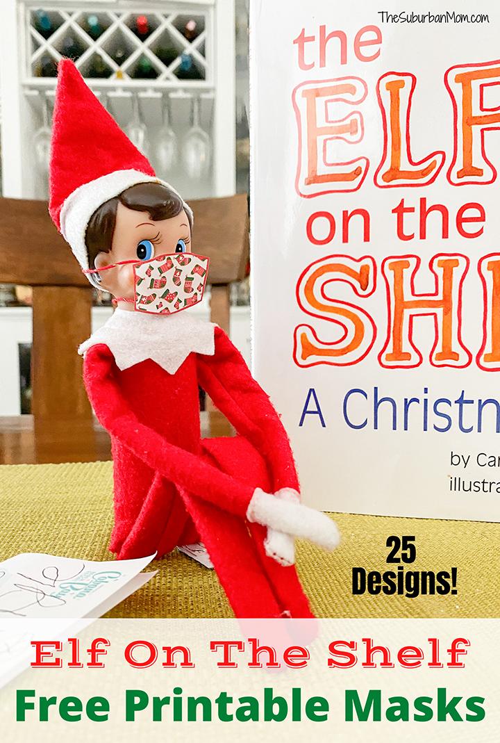 Elf On The Shelf Free Printable Masks