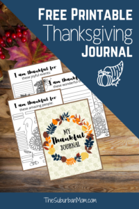 Thanksgiving Thankful Journal For Kids