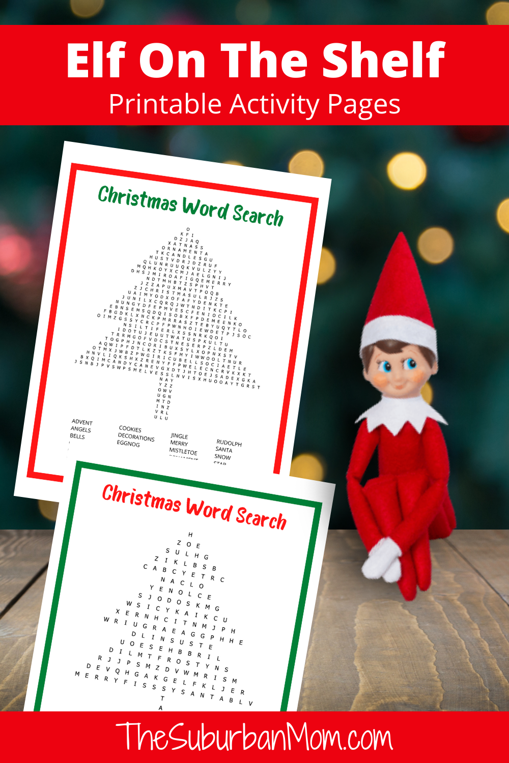 Elf On The Shelf Printable Word Search