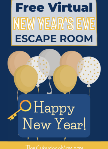 New Year's Eve Virtual Escape Room For Kids