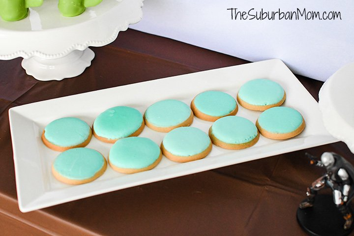 Baby Yoda Blue Cookies