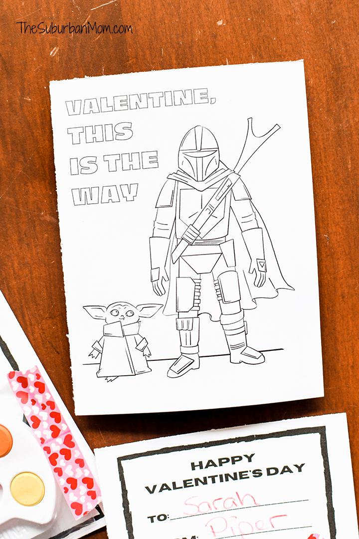 Baby Yoda Mandalorian Free Printable Valentine