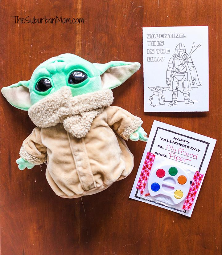 Free Prinable Baby Yoda Valentines