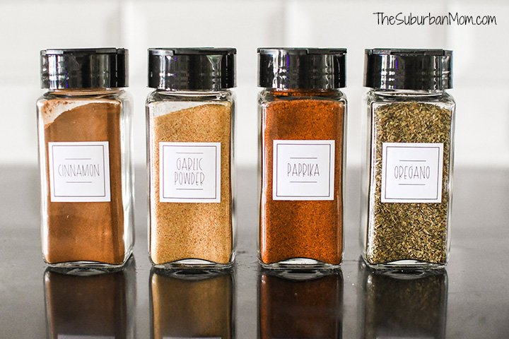 DIY Spice Jar Labels
