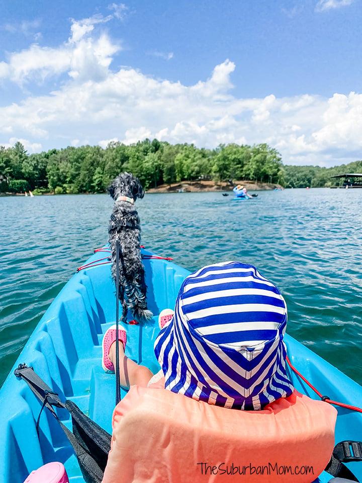 Kayaking Blue Lake Georgia With Family