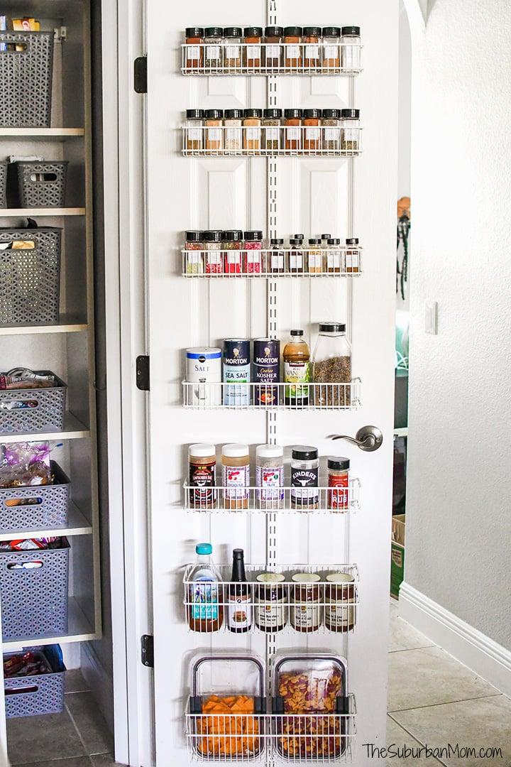 Organization Hack Over The Door Spice Rack