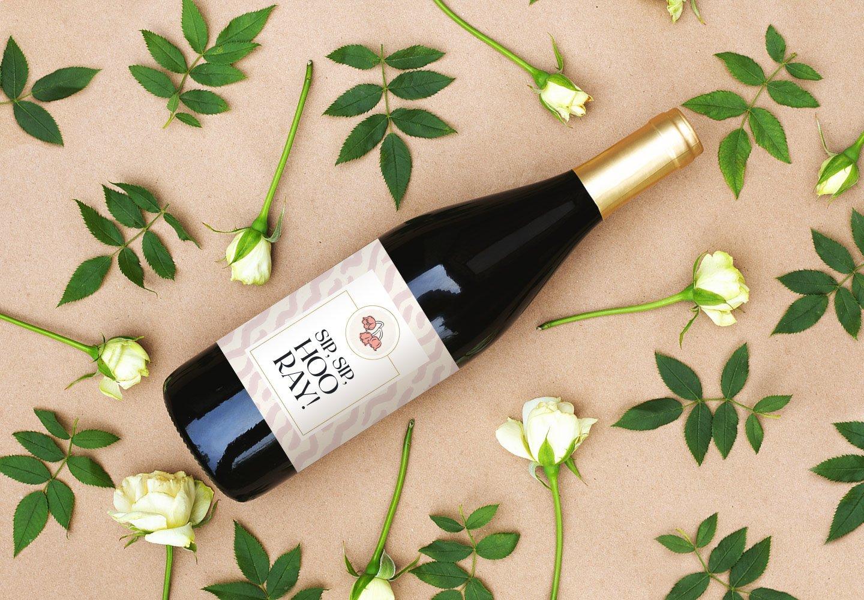 Sip Sip Hooray Wine Label Printable