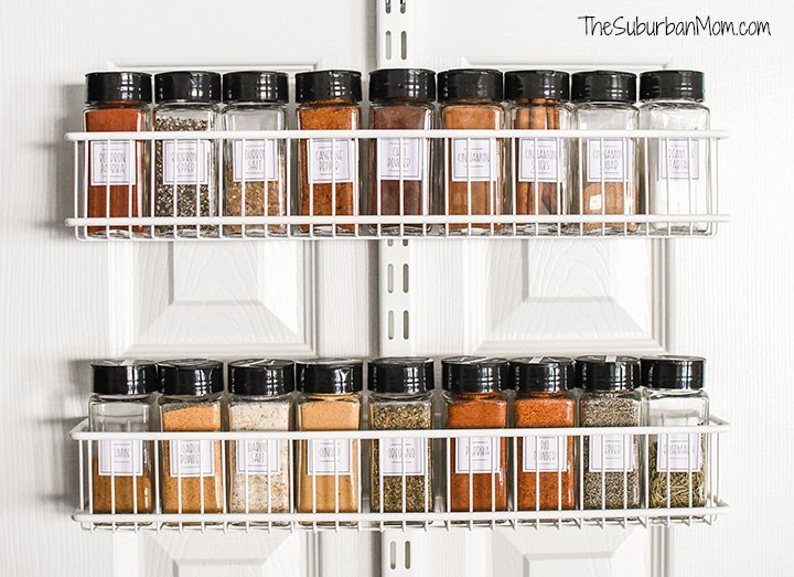 Spice Rack Organization