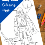 The Mandalorian Baby Yoda Coloring Page Free Printable