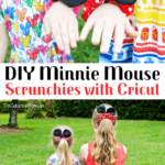 DIY Minnie Mouse Scrunchies Cricut