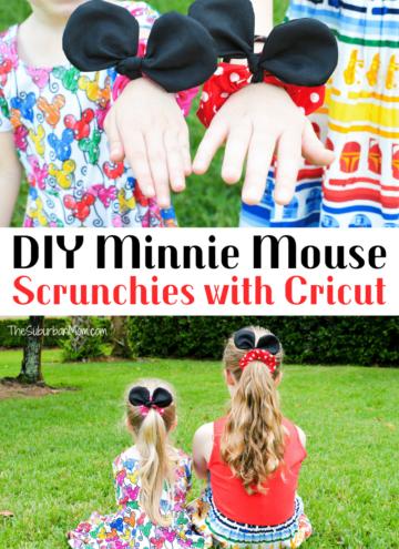 DIY Minnie Mouse Scrunchies Cricut