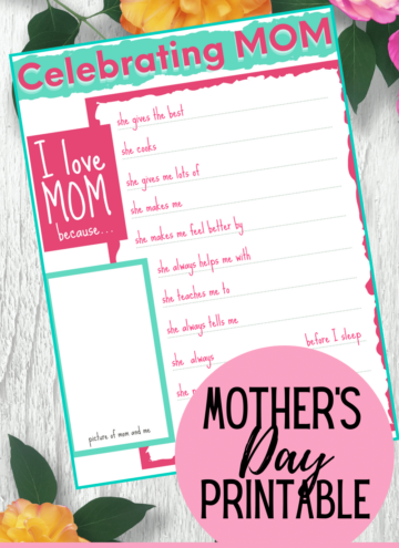 Free Mother's Day Kids Printable