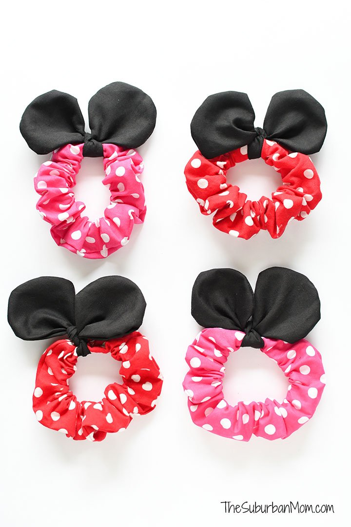 Minnie Mouse Scrunchie Cricut Tutorial