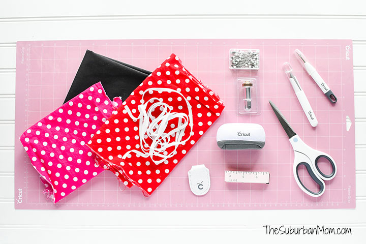 Minnie Mouse Scunchie Cricut Sewing Tools
