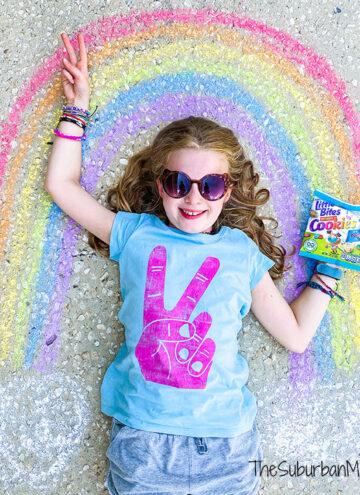 Peace Rainbow Girl