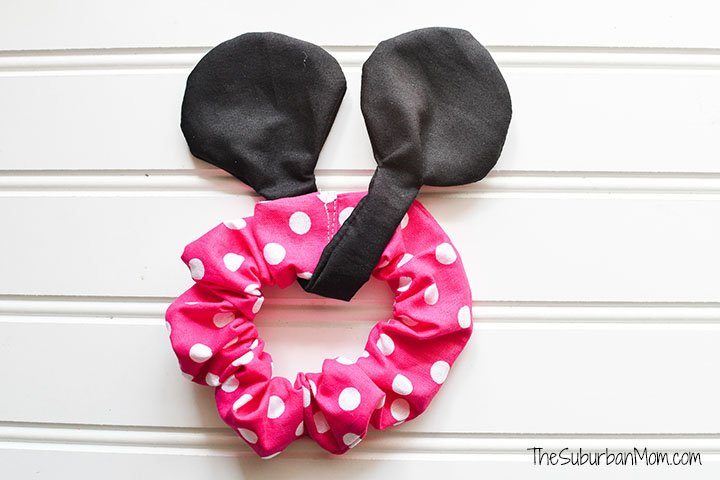 Polka Dot Minnie Mouse Scrunchie