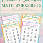 Addition Subtraction Math Worksheets Printable