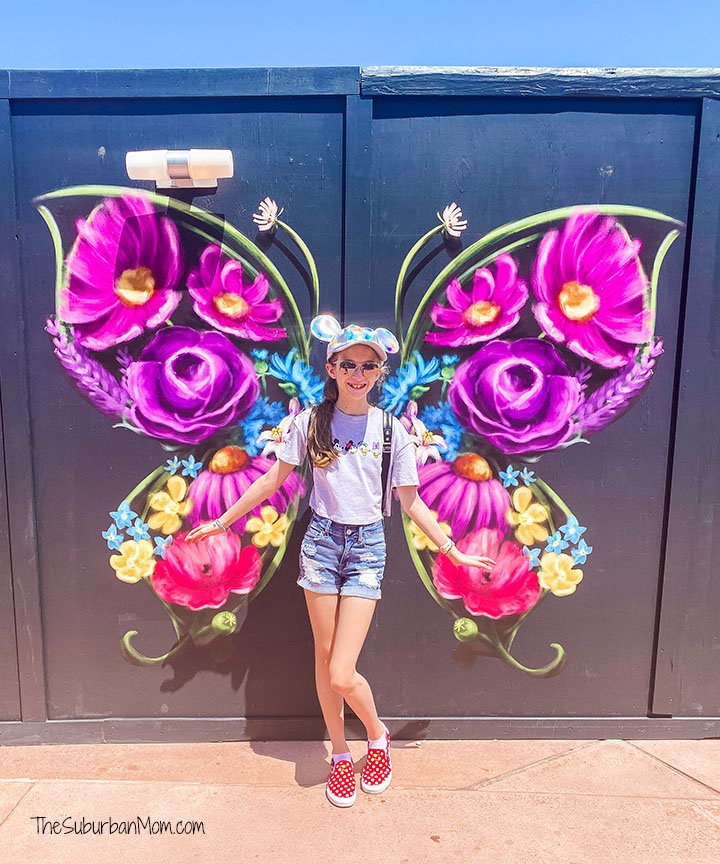 Epcot Butterfly Mural