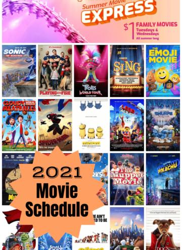 Regal Summer Movie Express 2021 Schedule