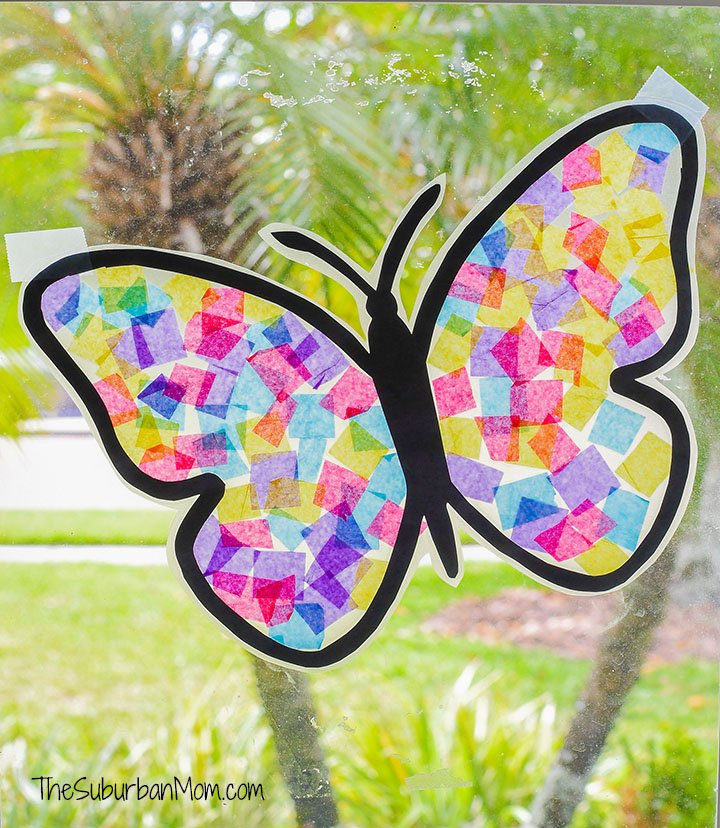 Butterfly Suncatcher Kids Craft