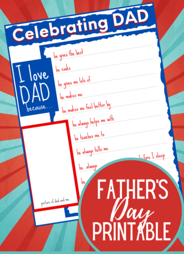 Free Father's Day Kids Printable Activity Page