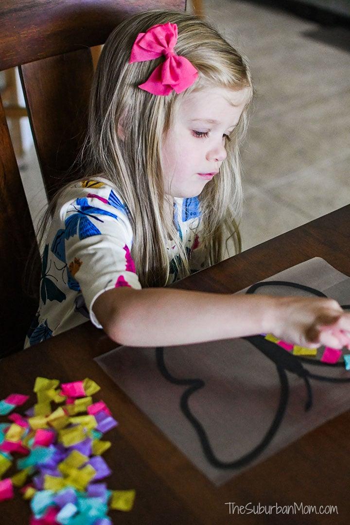 Preschool Craft Butterfly Suncatcher