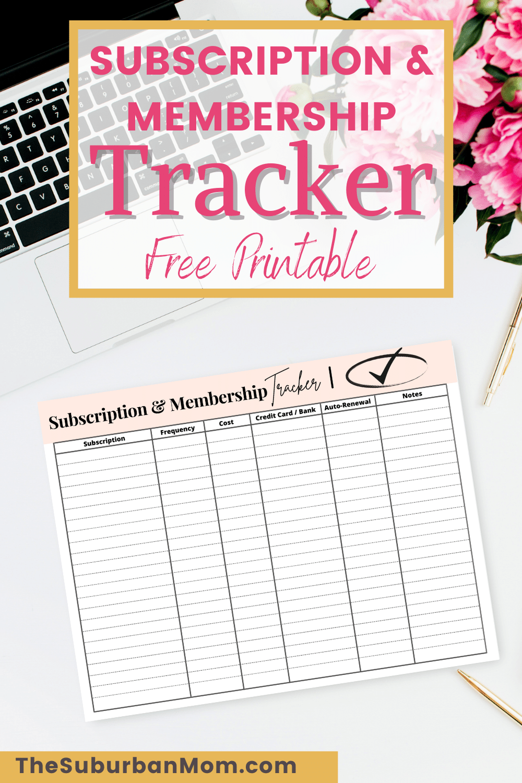 Subscription Membership Tracker