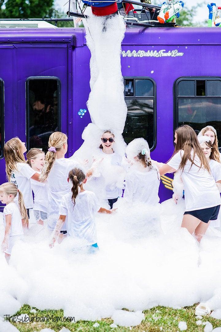 Bubble Truck Foam Party