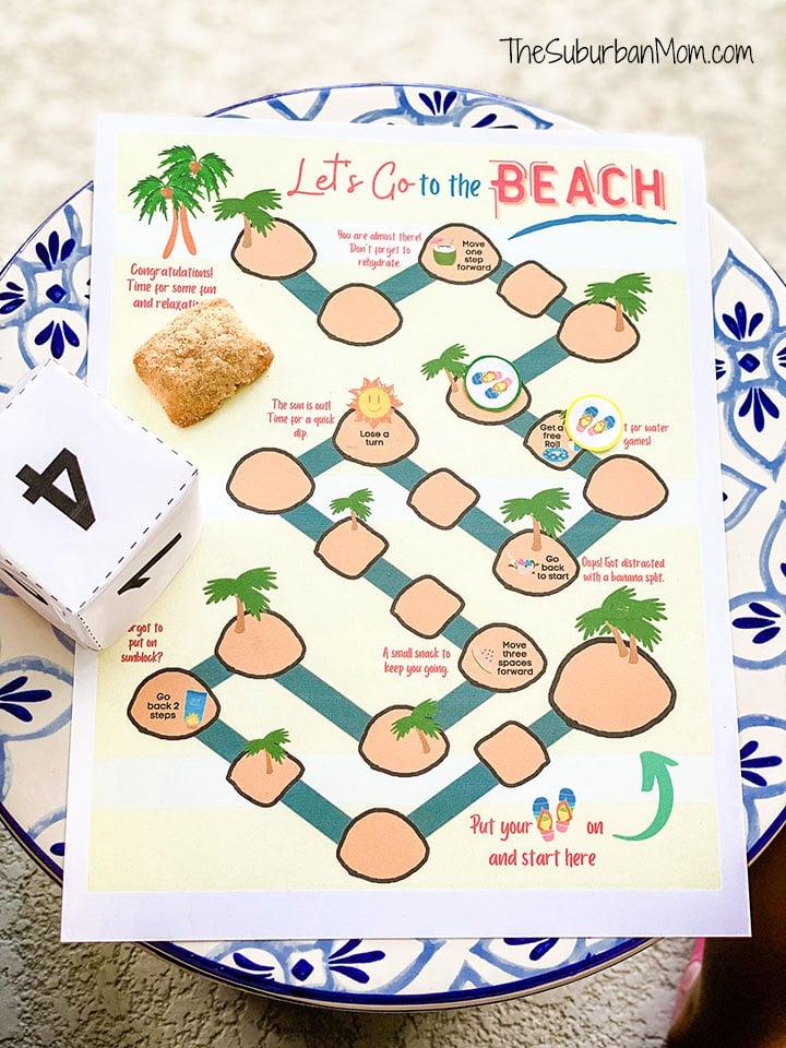 Beach Board Game Printable