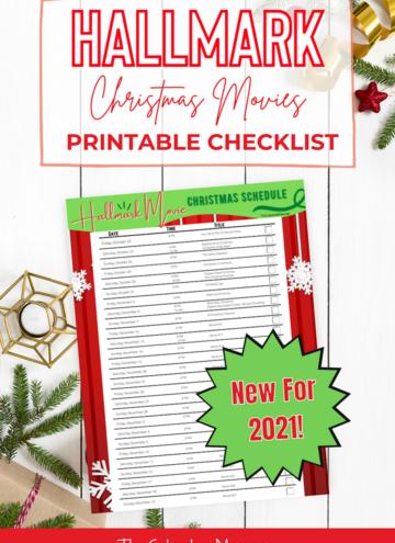 Hallmark Christmas Movies Schedule Printable Checklist 2021