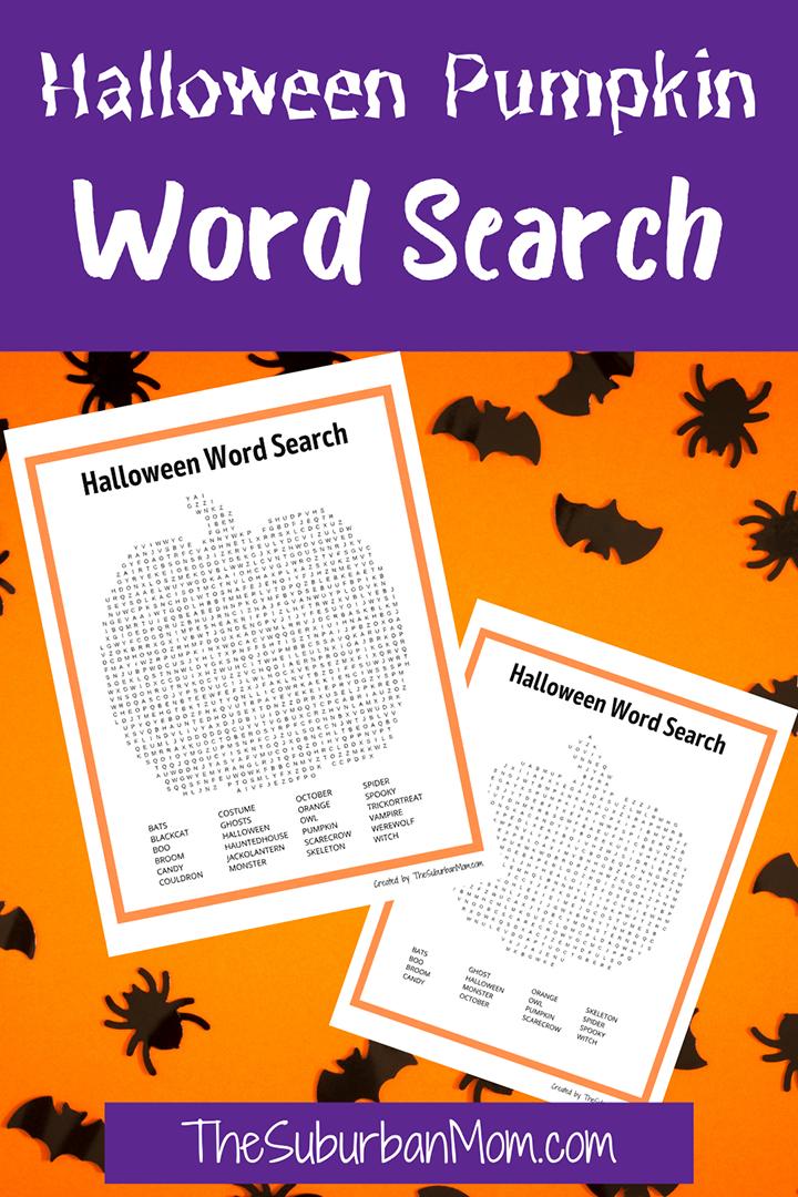 Halloween Pumpkin Word Search